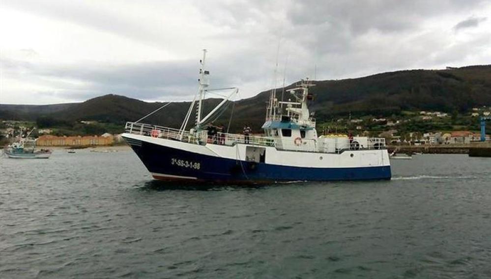 El pesquero que se ha hundido en las costas de Asturias
