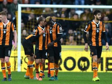 El Hull City celebra un gol