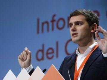 Albert Rivera, durante su discurso en la IV Asamblea de Ciudadanos