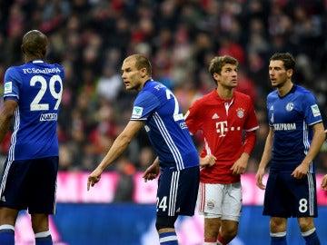 Müller, durante el Bayern-Schalke