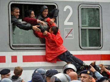 Niños refugiados en Croacia