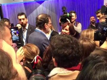 Rajoy en su llegada a las instalaciones de la Caja Mágica