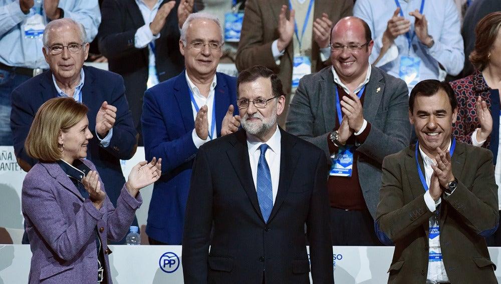 María Dolores de Cospedal, Mariano Rajoy y Fernando Martínez-Maillo