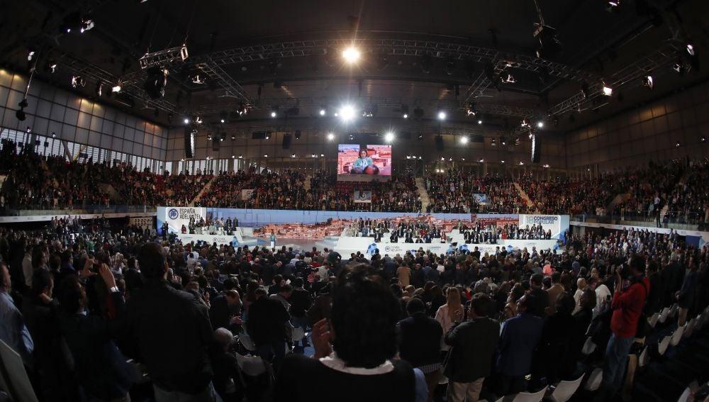 Vista general de la Caja Mágica durante el XVIII Congreso Nacional del PP