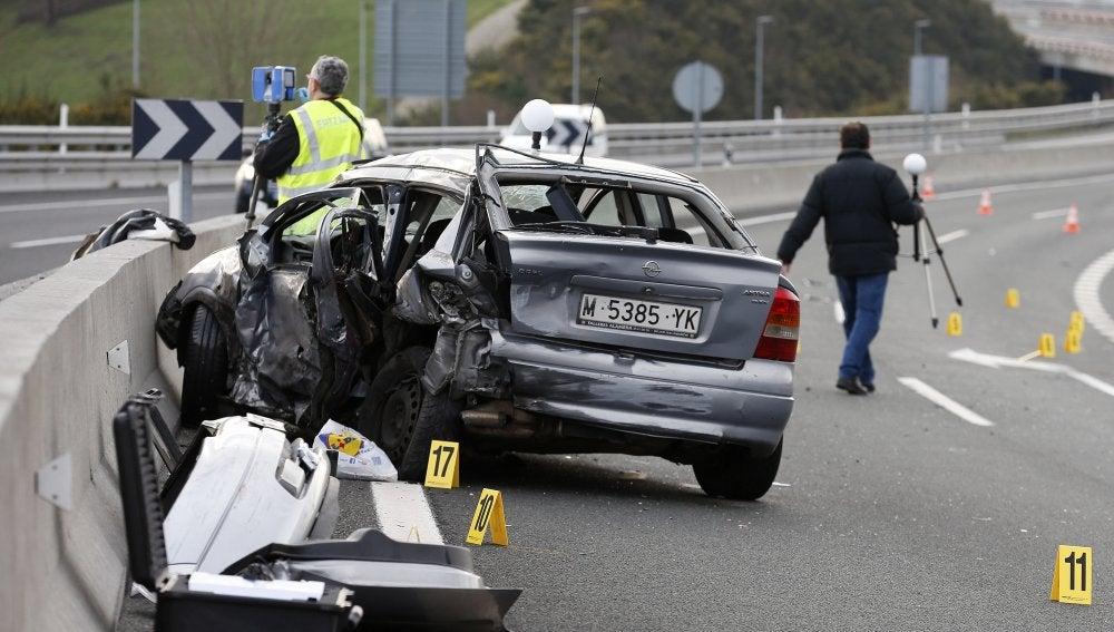 Accidente de tráfico - Imagen de archivo