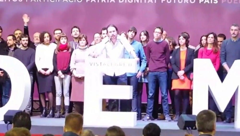 Pablo Iglesias durante su intervención en Vistalegre II