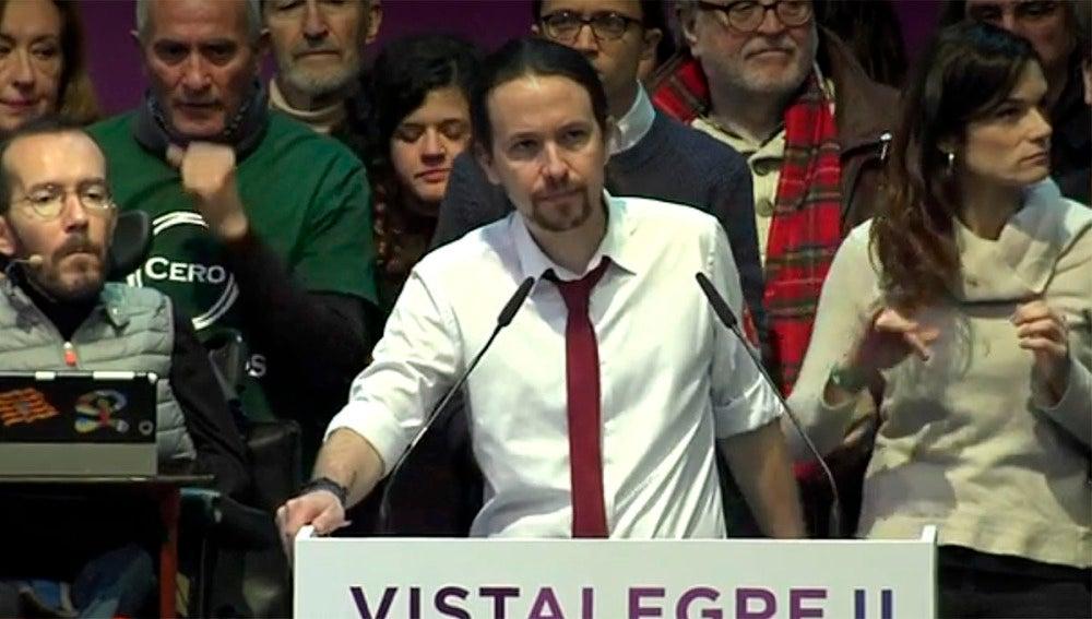 Pablo Iglesias durante su discurso