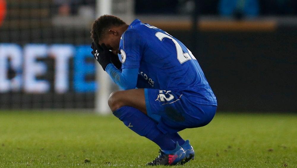 Demarai Gray, durante el partido contra el Swansea