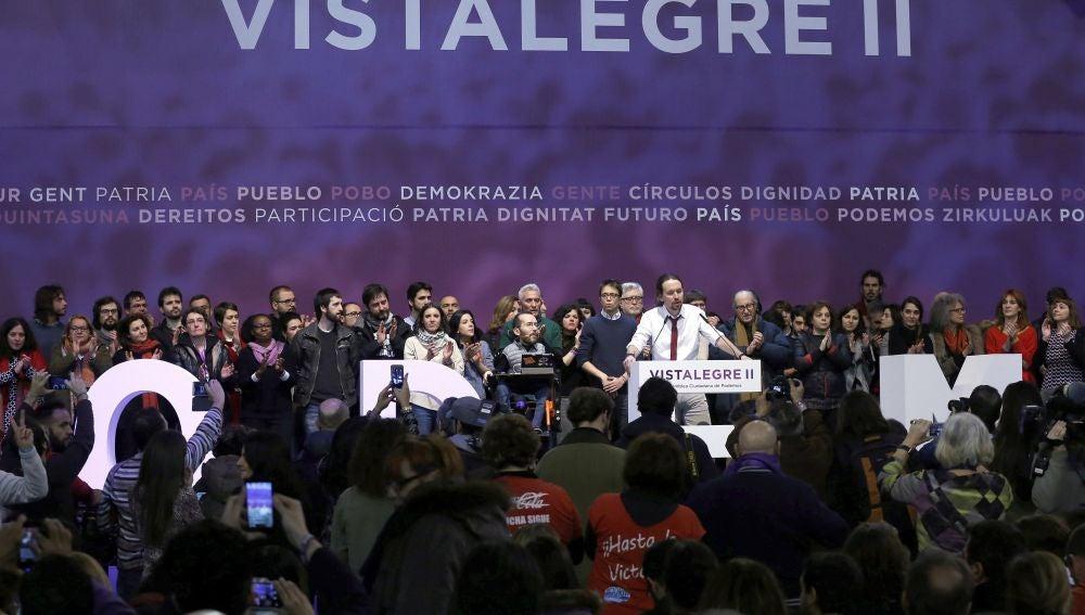 El consejo ciudadano de Podemos, en Vistalegre II (Archivo)