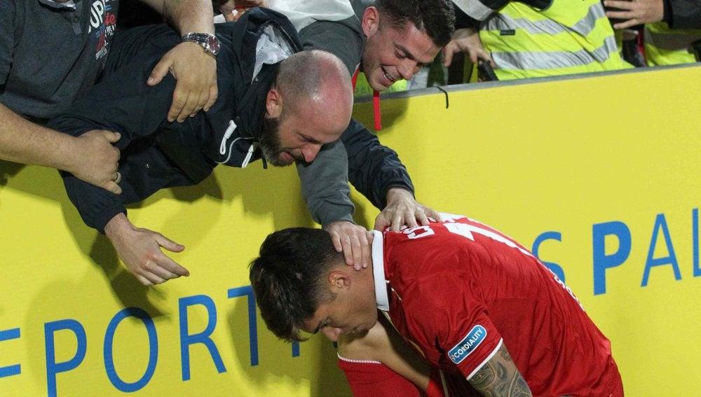 Correa celebra su gol contra Las Palmas