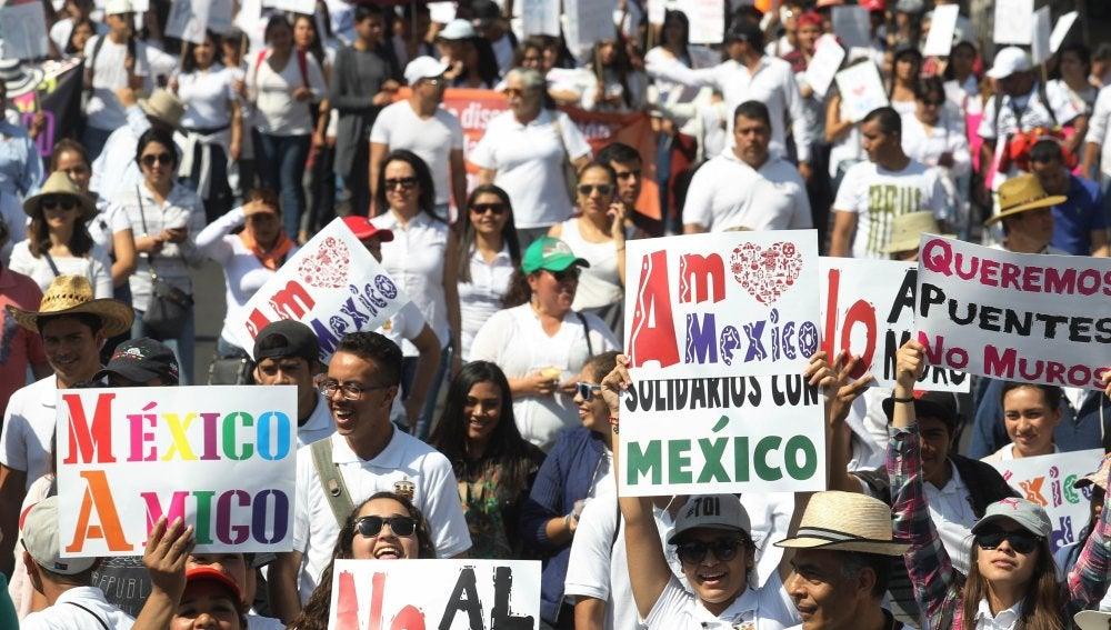 Manifestación en México contra Trump