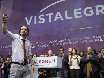 Pablo Iglesias, en el congreso de Vistalegre II