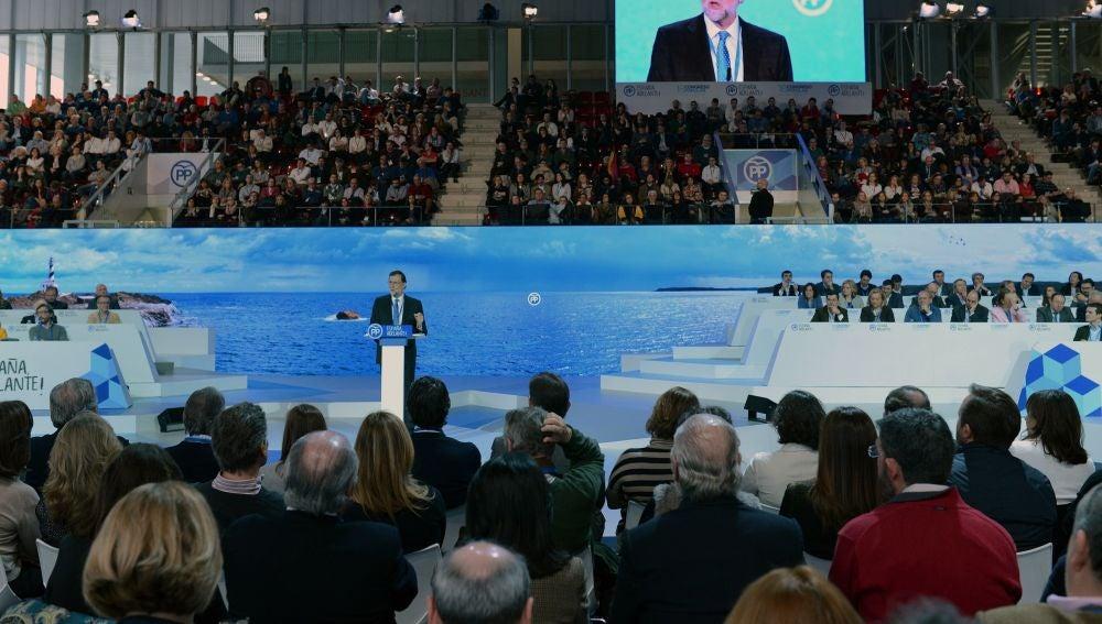 Mariano Rajoy, el presidente del Gobierno, en el XVIII Congreso Nacional de su partido