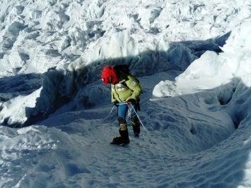Alex Txikon, camino de la cumbre del Everest