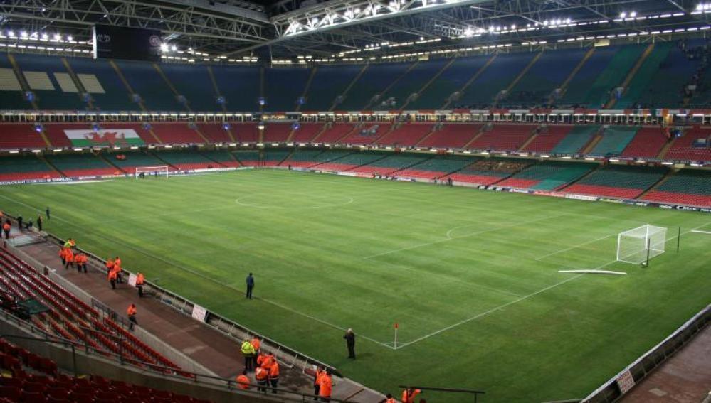 Vista general del Millenium Stadium, donde se disputa la final de Champions 16/17