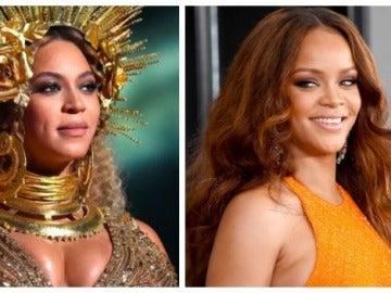 Rihanna y Beyoncé en los Premios Grammy 2017