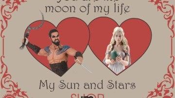 Tarjeta de 'Juego de Tronos' para San Valentín