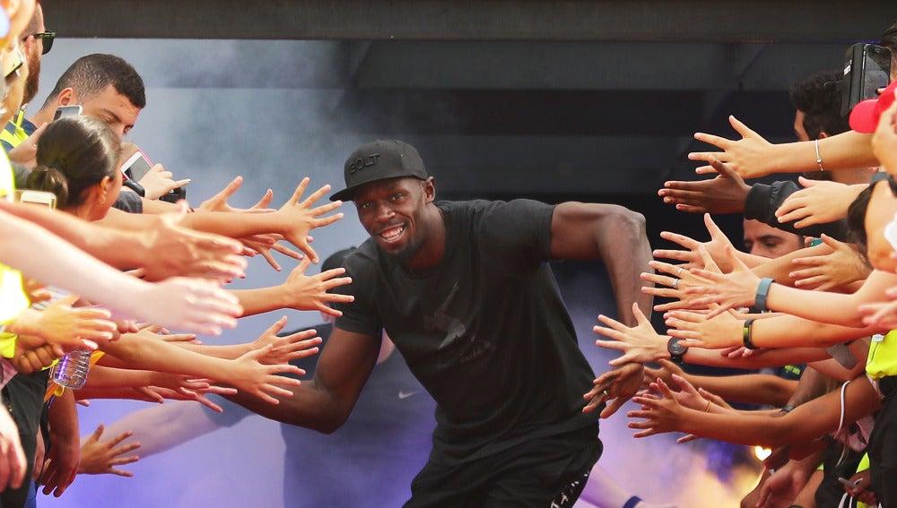 Usain Bolt, en un acto en Melbourne