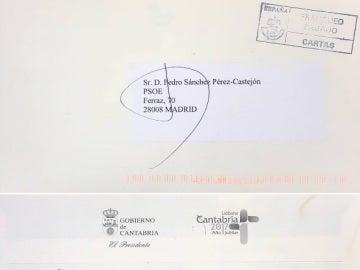 La carta de Revilla a Pedro Sánchez