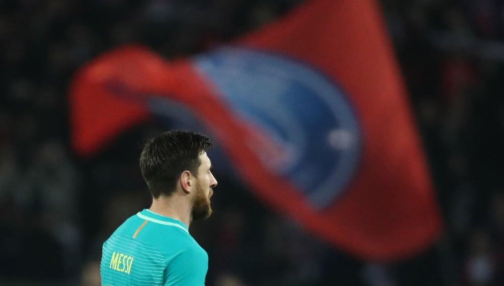 Messi, en el Parque de los Príncipes