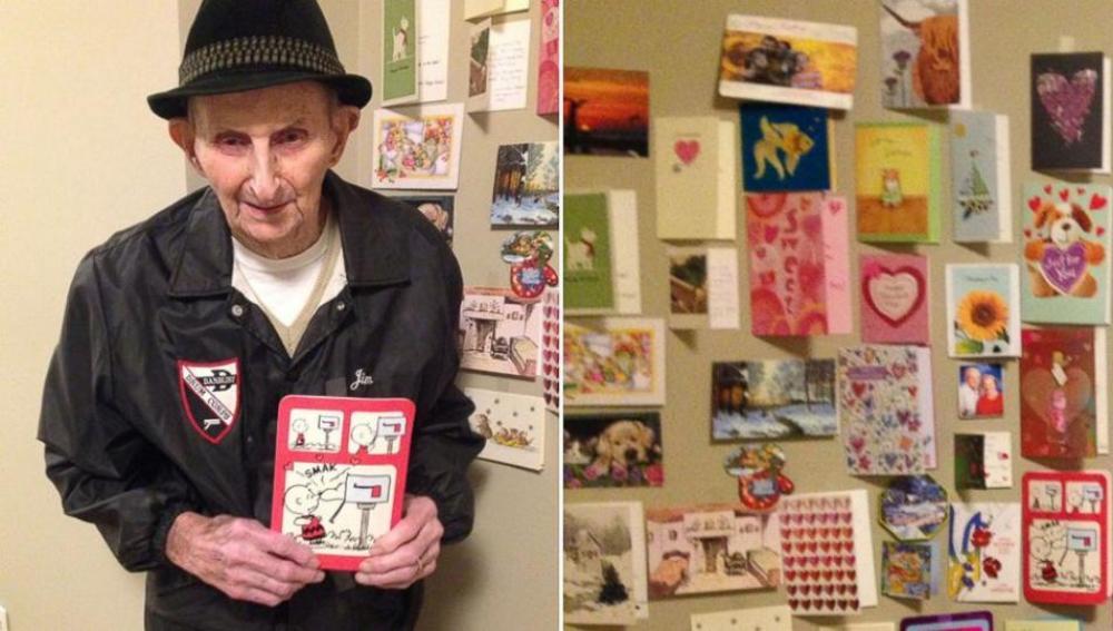 Anciano recibe tiernas cartas de San Valentín