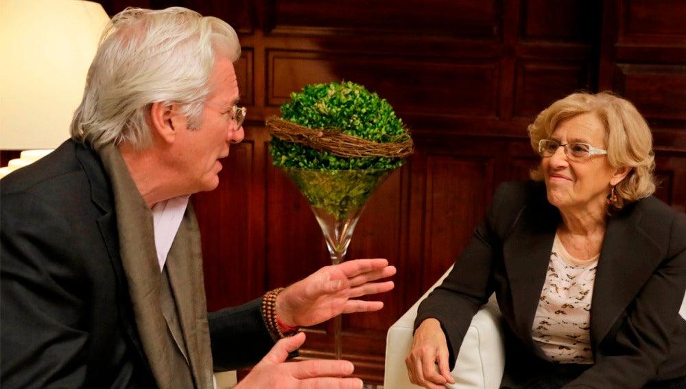 Richard Gere se reúne con Manuela Carmena