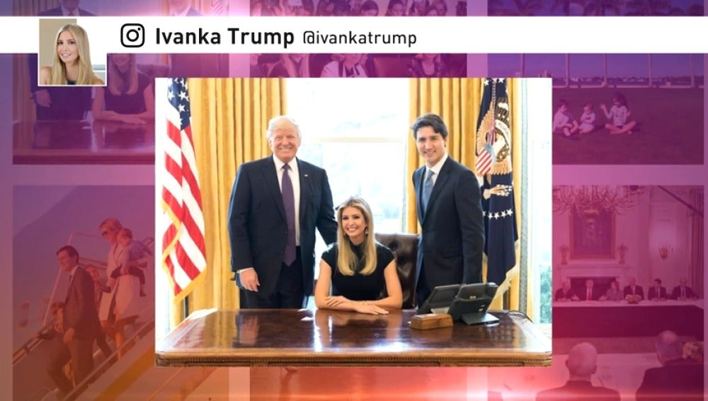 Frame 8.542021 de: Se fotografía en el Despacho Oval sentada en el sillón del presidente