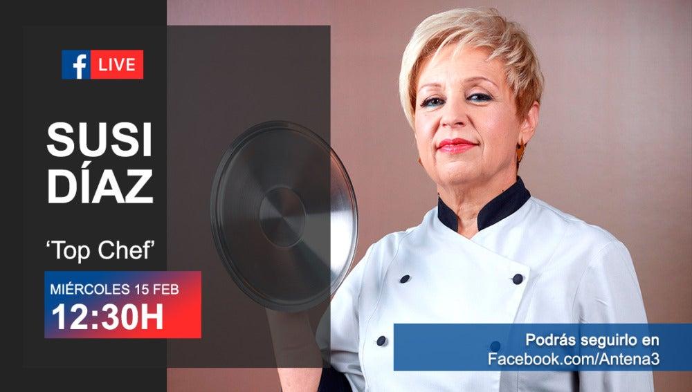 Susi Díaz responderá a vuestras preguntas a través de Facebook Live