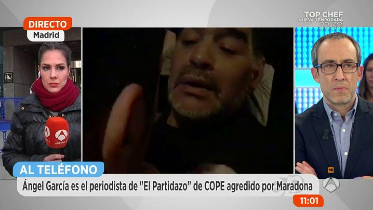 """El periodista que tuvo la bronca con Maradona: """"Me soltó ..."""
