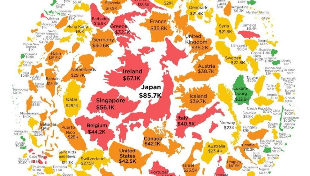 La deuda pública por cada ciudadano