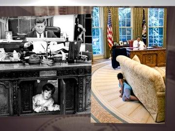 Frame 13.591017 de: Ivanka Trump rompe una norma no escrita al fotografiarse en el sillón del presidente en el despacho oval