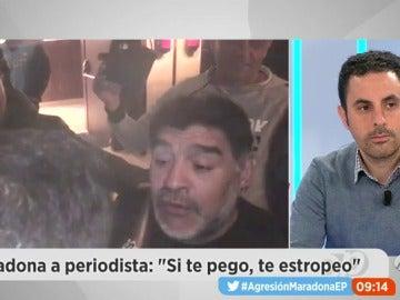 """Frame 56.196972 de: Hablamos con el periodista agredido por Maradona: """"Nadie se ha disculpado ni lo esperaba"""""""