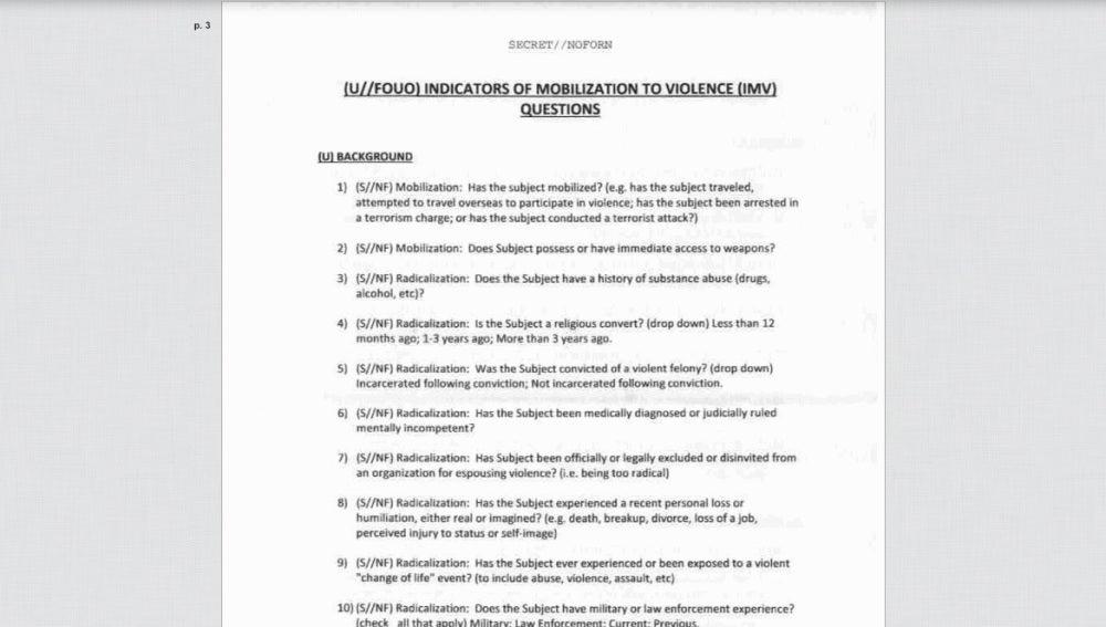 Preguntas del FBI