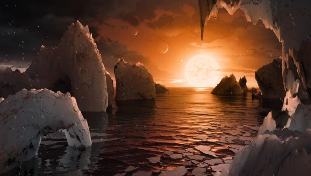 Así podría ser la superficie de uno de los planetas del sistema Trapist