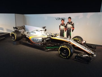 Pérez y Ocon, con el Force India