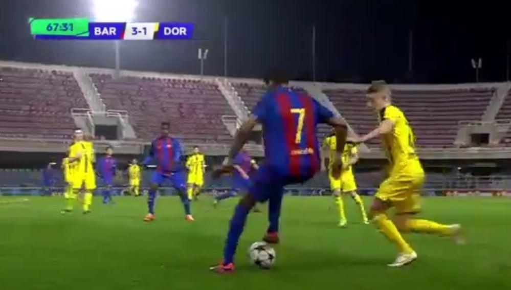El impresionante gol de Jordi Mboula