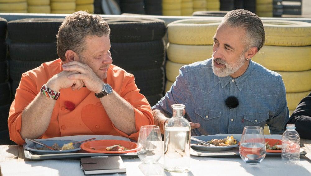 Sergi Arola, invitado de honor en la primera prueba grupal de 'Top Chef'