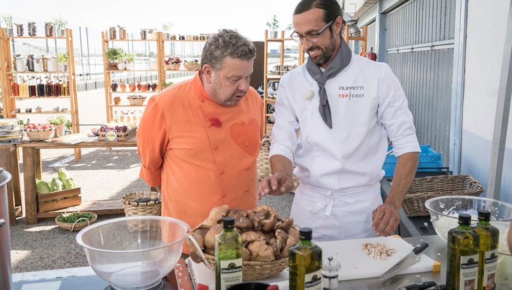 """Alberto Chicote, a Filippetti: """"Eres un poco gocho trabajando, tus puestos siempre están sucios"""""""