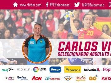 Carlos Viver, nuevo entrenador de la selección española de balonmano femenino