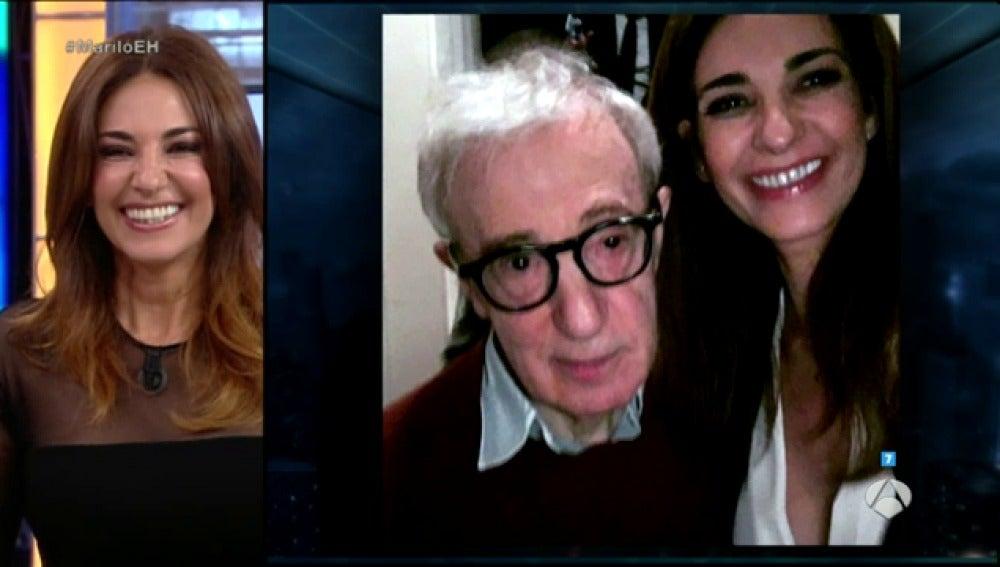 Frame 16.207476 de: Mariló montero obligó a Woody Allen a hacerse un selfie