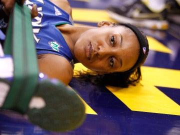 Candice Wiggins, durante un partido