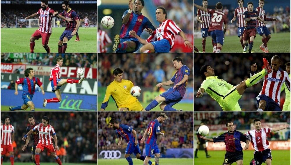 ¿A qué año pertenecen estas fotos del Barça-Atleti?