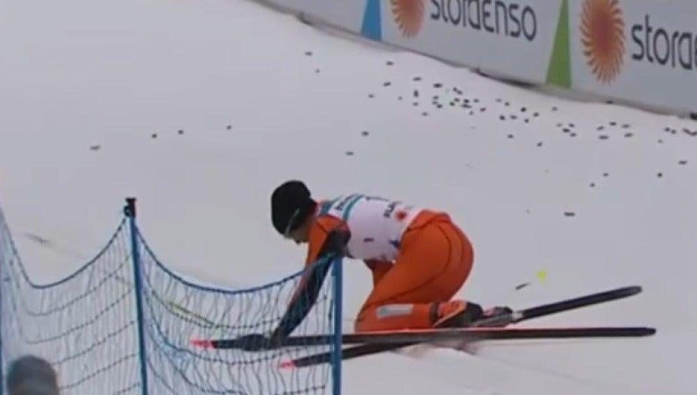 Adrián Ramos durante su prueba en el mundial de Finlandia