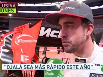Fernando Alonso, entrevistado en Jugones