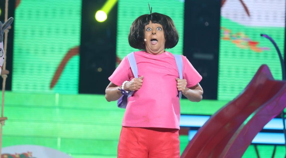 Yolanda Ramos imita a Dora la Exploradora