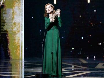Isabelle Huppert en los Premios César 2017