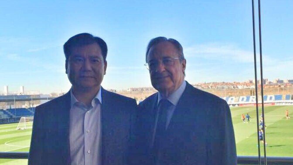 Florentino Pérez, con el dueño del Inter