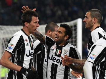 La Juventus celebra un gol