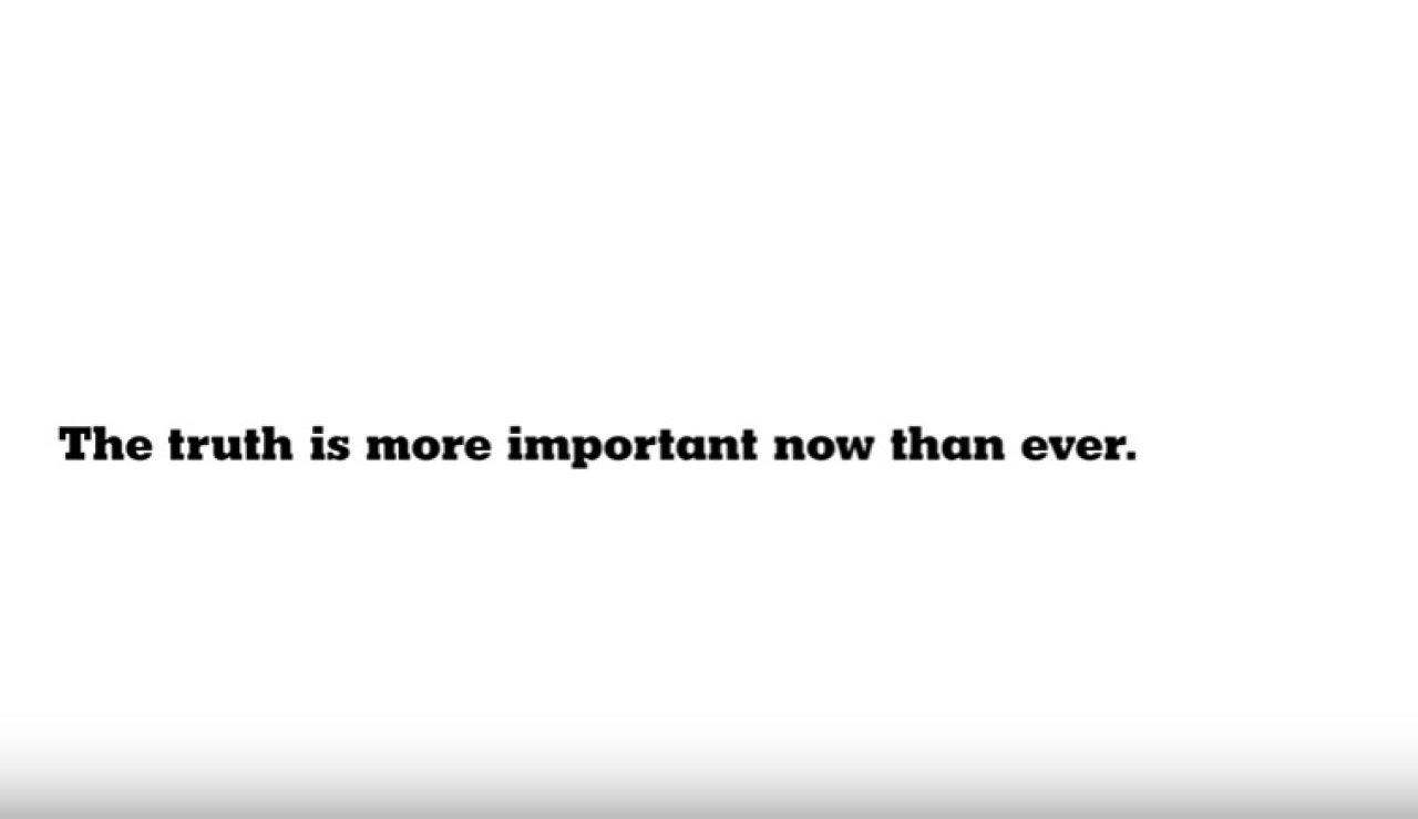 """""""La verdad es más importante ahora, que nunca"""", el spot de The New York Times"""