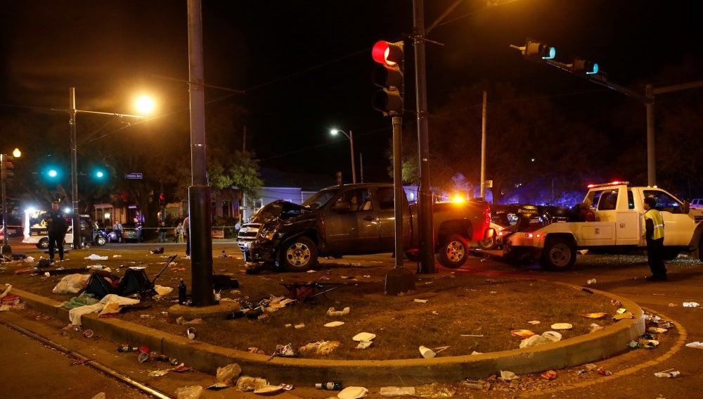 Accidente en Nueva Orleans